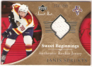 2006-07 Upper Deck Sweet Shot Janis Sprukts (138/499, Jersey-White, Rookie card) # 126