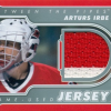 2011-12 In The Game Between The Pipes Arturs Irbe (Game Used Jersey Red-White) # M39
